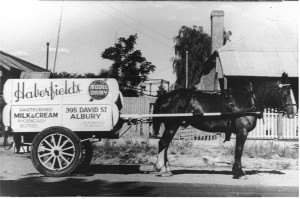 Delivery Cart -Horse & cart milk delivery near gas works