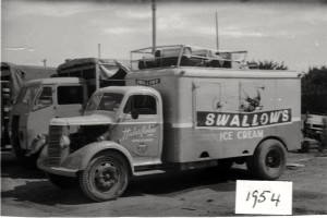 Swallows agent 1954 see Thornecroft truck behind