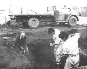 Boiler room Digging Bunker oil tank pit, Bruno Lubinski, Spei
