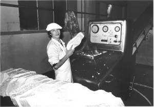 Cheese Room  Milling curd 1980